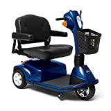 Pride Mobility - Maxima - Heavy Duty Scooter - 3-Wheel Scooter - Viper Blue - PHILLIPS POWER PACKAGE TM - TO $500 VALUE