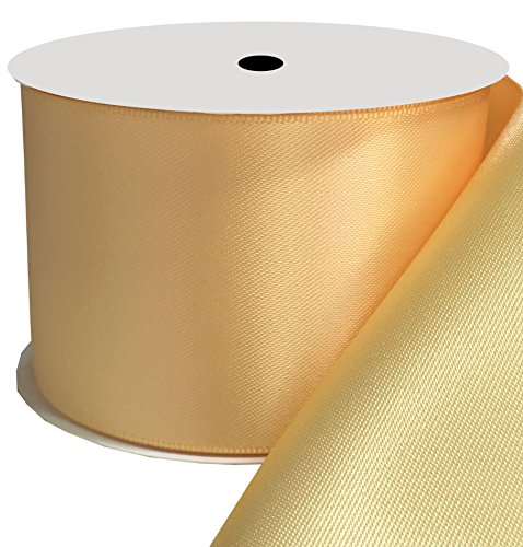 Duoqu 2 inch Wide Double Face Satin Ribbon 10 Yards - Buttercup Bouquet