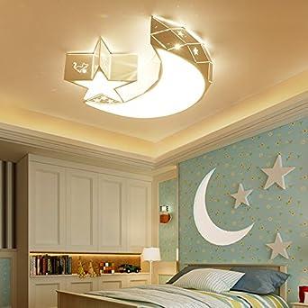 Stern, Der Mond, Die Led - Deckenleuchte, Kinderzimmer Lampe ...