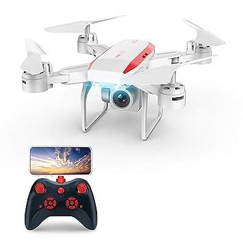 Drone, Plegable con Luces LED Quadcopter Drone con Cámara Video En ...