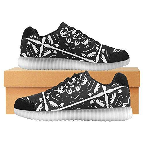 Interestprint Caleidoscopio Flower Light Up Shoes Sneakers Lampeggianti Scarpe Basse Casual Da Donna