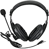 Retevis Walkie Talkie Earpiece Boom Mic Overhead Headphone with VOX PTT for Kenwood H-777 RT22 RT21 Baofeng UV5R BF-888S Two Way Radio (1 Pack)