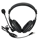 Retevis Walkie Talkie Earpiece Boom Mic Overhead Headphone with VOX PTT Compatible with Kenwood H-777 RT22 RT21 Baofeng UV5R BF-888S Two Way Radio (1 Pack)
