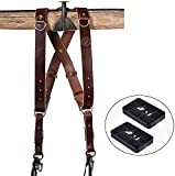 HoldFast Gear Money Maker Multi-Camera Harness, Tan Water Buffalo Leather (Small) and Two Ivation Replacement Plates for the Mefoto Globetrotter Aluminum & Carbon Fiber Tripod Systems
