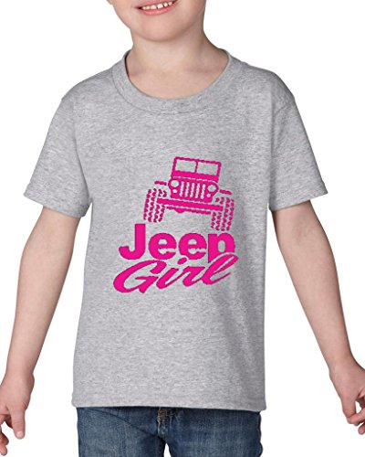 Artix Jeep Girl JK Fashion People Couples Gifts Best Friend Gifts Heavy Cotton Toddler Kids T-Shirt Tee Clothing 4T Sport Grey (Shirt Toddler People)