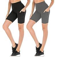 "FULLSOFT 3 Pack Biker Shorts for Women - 7"" Soft Spandex Shorts for Summer Workout Running Yoga Athletic-Reg&Plus Size"