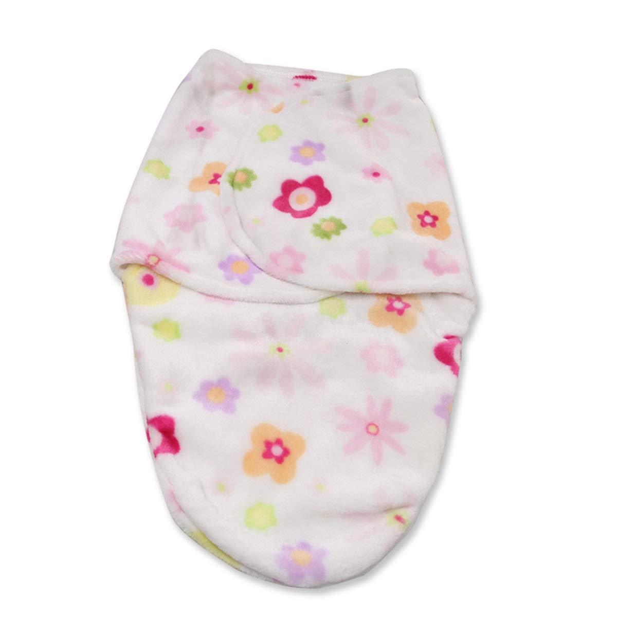 ソフトフランネルベルベットベビーブランケット 新生児用おくるみラップ寝袋 暖かいベビーベッドブランケット 0~6か月用 (カラー:マルチカラーフローリング)   B07MW51QN7