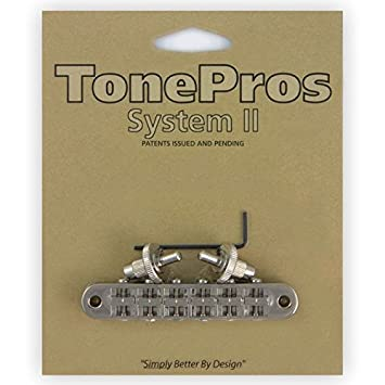 Nickel T3BP-N TonePros Standard Tune-O-Matic Bridge Notched Saddles