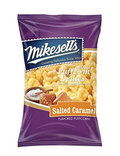 (Mikesell's 5.5 oz. Salted Caramel Puffcorn Delites - 1 case of 6 bags)