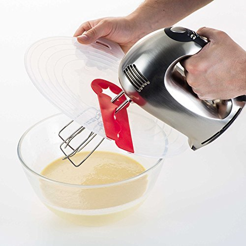 12-Inch Mixer Splatter Guard Egg Bowl Whisks Screen Cover Baking Splash Guard Bowl Lids Kitchen Cooking Tools Momshand YB002
