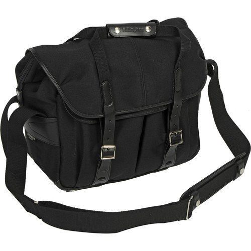 Billingham 307L Camera and Laptop Shoulder Bag (Black FibreNyte & Leather) by Billingham