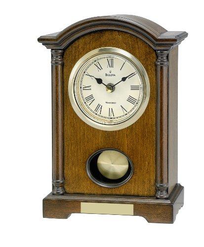 bulova-dalton-chiming-pendulum-table-clock-walnut-finish-gold-tone-accents