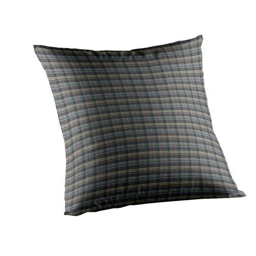 (Patch Magic Navy & Light Blue Plaid Fabric Toss Pillow, 16