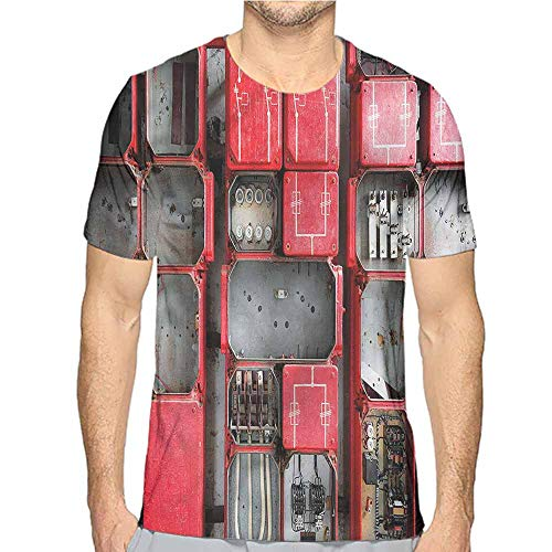 - bybyhome Funny t Shirt Industrial,Fuse Cabinet Men's and Women's t Shirt XL