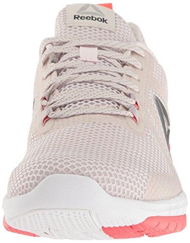 Chaussure De Course Reebok Womens Print 2.0 Lilas Cendre / Whisper Gris / Corail De Feu / Rose Stellaire