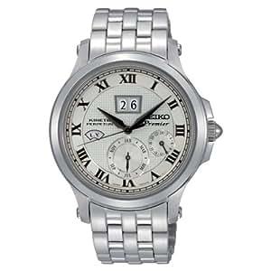 Seiko SNP039P1 - Reloj para hombre, color blanco / gris