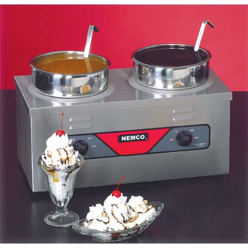 Twin Well Warmer - Nemco 6120A-ICL Food Warmer, Two 4 Qt. Wells, 700 Watts