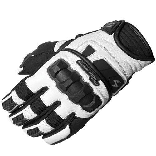 Scorpion EXO Men's Men's Klaw II White Gloves G17-055 (Scorpion Gloves Klaw)