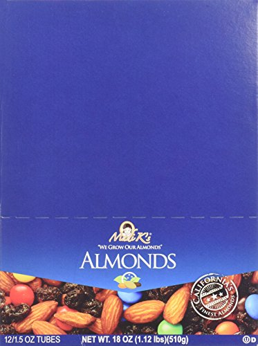 Madi K's Roasted Salted Blend Almonds, 1.5-Ounce Tubes (Pack of 72) by Madi K's