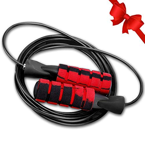 Notable Jump Rope, Speed Skipping Ropes, Adjustable Tangle-Free Cable Jump Rope with Foam Handle, Great for Aerobic Exercise Fitness Training, Speed Workouts and Fitness Gym