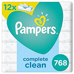 Pampers Fresh Clean Baby Wipes, 6+6, 768 Count