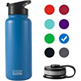 Water Bottle 32oz/40oz Double Wall Vacuum Insulated Stainless Steel with 2 BPA Free Lid Leak Proof Sports Jug Bulk Large Gym bottlebottle