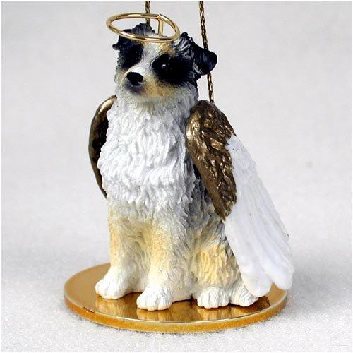 Blue Australian Shepherd Ornament Tiny Angel figurine