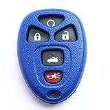 key for pontiac g6 blue - WFMJ Replacement Blue Remote Smart 5 Buttons Car Key Case Shell Fob For Chevrolet Cobalt MalibuPontiac G5 G6 Grand Prix Solstice Pursuit Saturn Aura Sky Buick Allure Lacrosse No Chip