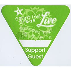 Live & Counting Crows 2000 Tour Backstage Pass Guest Gr