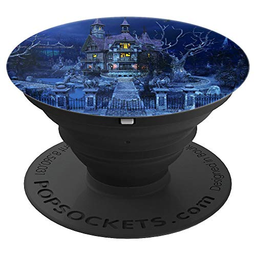 Halloween Haunted House Spooky Mansion Ghosts - PopSockets Grip and Stand for Phones and Tablets ()
