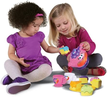 Oleaje LeapFrog Tea Party Rainbow Musical - Cleva Edición Childsafe Puerta STOPZ Bundle