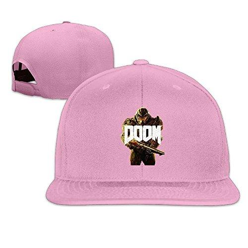 Price comparison product image MaNeg Doom Unisex Fashion Cool Adjustable Snapback Baseball Cap Hat One Size Pink