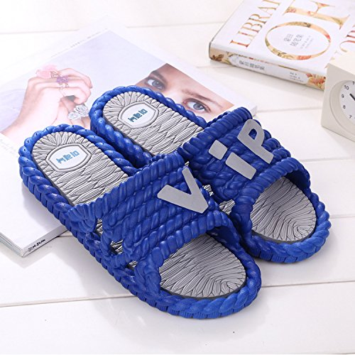 fankou Mr Home Couple Thick Female Slippers Bathroom Shower Plastic Cool Slippers Non-Slip Home Interior and Cool Drag and,44-45,E