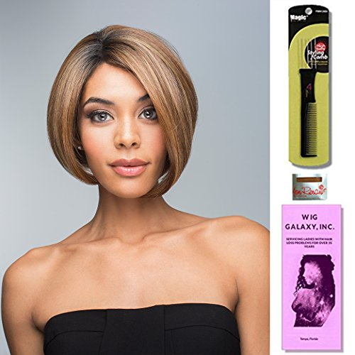 Fabulous by Revlon, Wig Galaxy Hair Loss Booklet, Wig Cap & Magic Wig Styling Comb/Metal Pick Combo (Bundle - 3 Items), Color Chosen: Crème De Coco by Revlon & Wig Galaxy