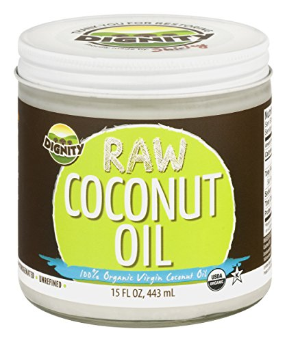 Dignity Coconuts Organic Virgin Coconut Oil, Centrifuge Raw, 15oz