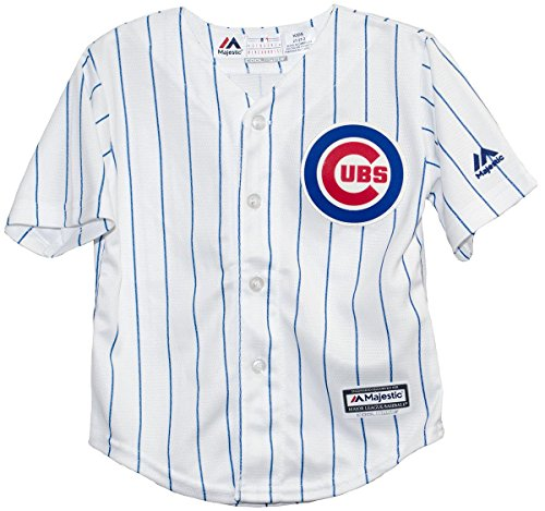 Majestic Chicago Cubs Home Pinstripe Cool Base Toddler Jersey (2T)