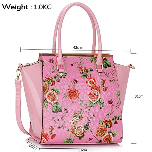 Pink Design Sale Womens Large Handbags Shoulder 1 Tote New Bags Leather Designer Faux Ladies wwUFxqZOB