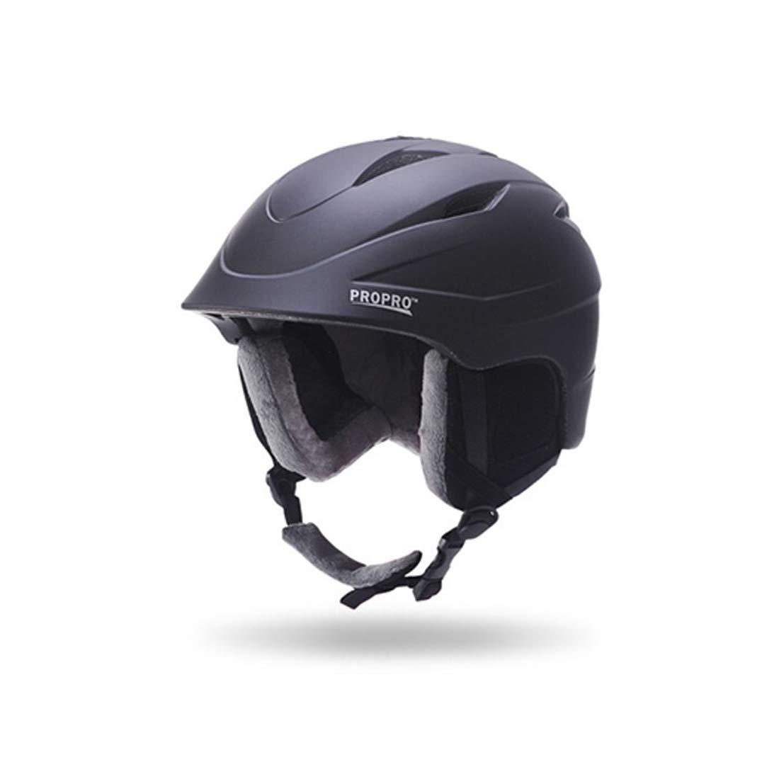 CAFUTY インテリアヒーターインテリアクッションアウトドア用品スキー用ヘルメット (Color : ブラック, サイズ : M) Medium ブラック B07PKGCZD6