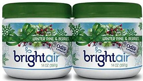 Bright Air Odor Eliminator - Winter Pine & Berries 14 Oz (Pack of 2)
