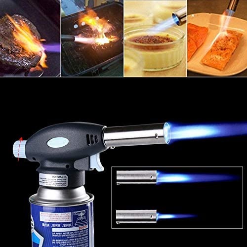 Blow Torch Butane Gas Flamethrower Burner Welding Auto # BBQ Soldering