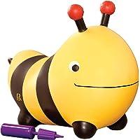 B. toys by Battat Bouncer Bumble Bee springbal met handpomp, opblaasbaar springdier voor kinderen vanaf 18 maanden.