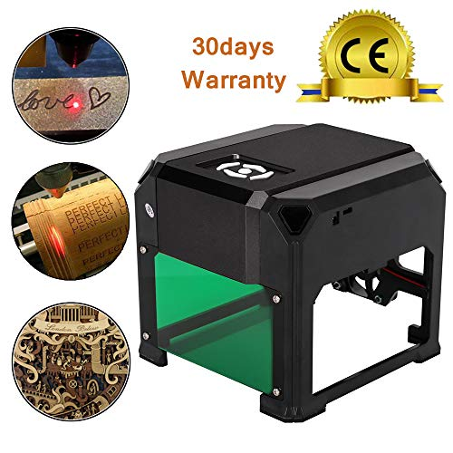 TopDirect 3000mW Laser Engraving Machine Mini Laser Engraver Printer CE Approved Working Area 7.5X7.5CM for DIY Logo Marking with CERTIFICATION by TopDirect