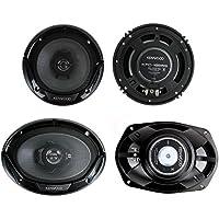 Kenwood KFC-1665S + KFC-6965S  6.5 300W 2-Way Plus (2) 6x9 400W 3-Way Car Speakers