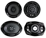 "Kenwood KFC-1665S + KFC-6965S 6.5"" 300W 2-Way Plus (2) 6x9 400W 3-Way Car Speakers"