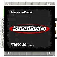 sound digital SD4004DEVO2 Ω 4X100W Rms, 2 Ω Subwoofer Amplifier