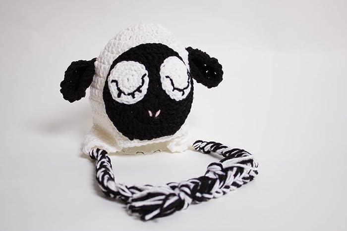 b2e7ea543b2 Amazon.com  Crochet Lamb Hat  Handmade