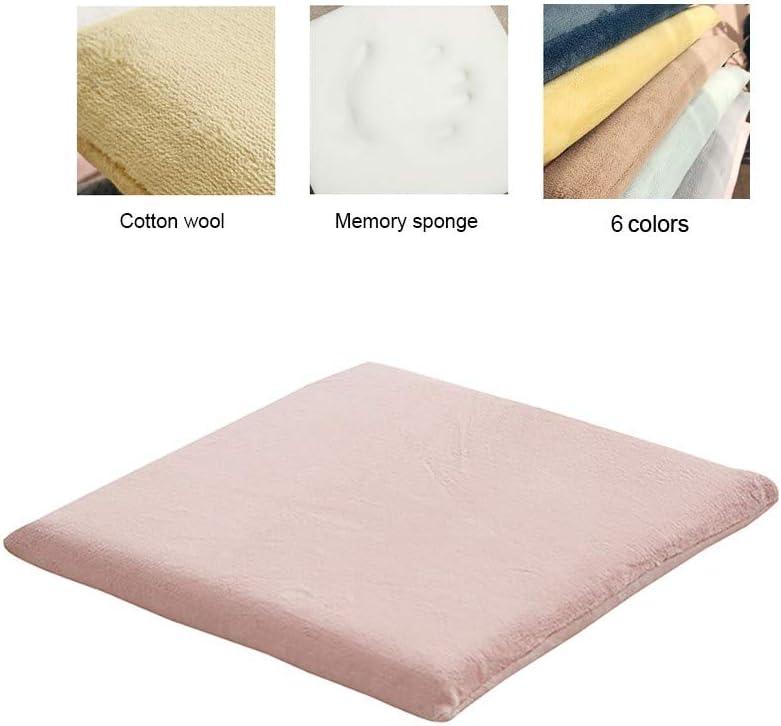 BASMPP Cuscini da Sedia Cuscino Cuscino in Spugna Memory Comfort Cushion Cuscino da Seduta Ergonomico Antistatico Rimbalzo Lento per alleviare Lo Stress Molti Colori