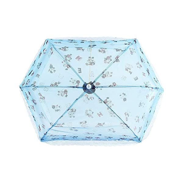 Yashika Umbrella Style Full Cover up for 0 to 3 Year Baby Blue Mosquito Net for Baby_New Born_Infants 2021 July Protection from mosquitoes and flies Lightweight,foldable, portable, ideal for traveling and home use 100% Washable and anti-microbial