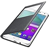 TRUE INDIA-View Window Leather flip cover for samsung galaxy A8 BLACK