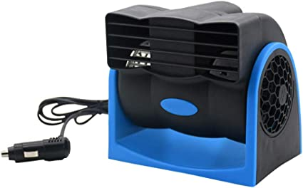 Coche de refrigeración Dash Van Vehículo del aire del ventilador 12V Auto velocidad ajustable silenciosa enfriador de ventilación del coche eléctrico azul del ventilador: Amazon.es: Coche y moto